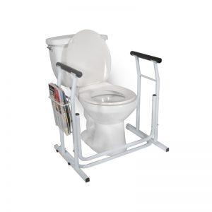 Rails de sécurité pour toilette autoportant
