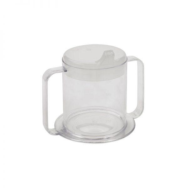 tasse a deux anses avec couvercle
